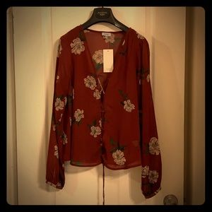 Marin Floral tie up Blouse